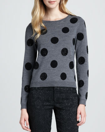 Celyn Sequin-Dot Sweater