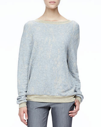 Loose Slub-Knit Sweater