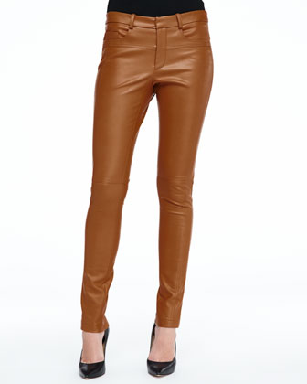 Skinny Lambskin Leather Pants