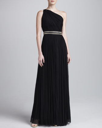 Oksana Pleated Long Gown
