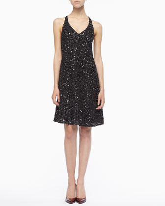 Sparkle V-Neck Dress