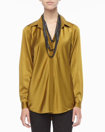 Silk Long-Sleeve Shirt