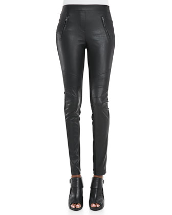 Faux-Leather/Ponte Leggings