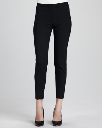 Fia Cropped Pants, Black