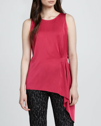 Shanae Sleeveless Georgette Blouse, Pink Ginger