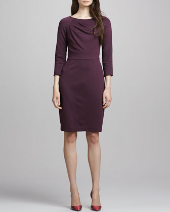 Fenella Long-Sleeve Pencil Dress