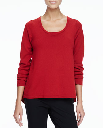 Merino Scoop-Neck Sweater