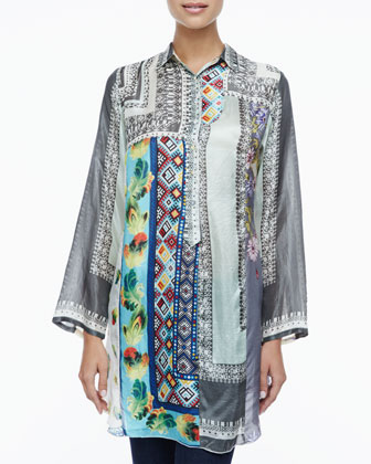 Spencer Printed Button-Front Tunic