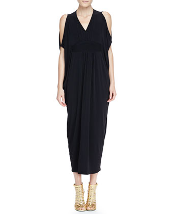Open-Shoulder Caftan Maxi Dress