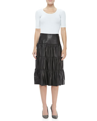 Tissue Plonge Ruffle Skirt