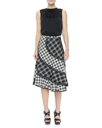 Pueblo Plaid Bias Skirt
