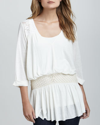 Moonlight Lace-Trim Tunic