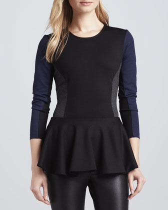 Judy Colorblock Peplum Top