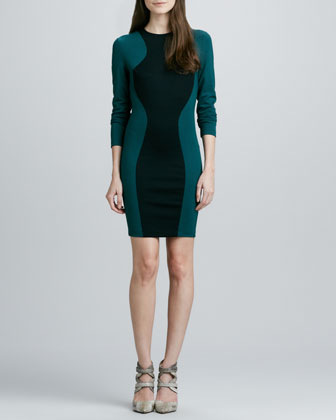 Shiran Two-Tone Ponte Dress