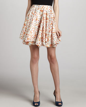 Printed Full Circle Skirt