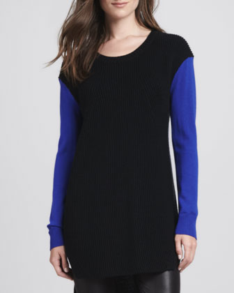 Two-Tone Knit Tunic