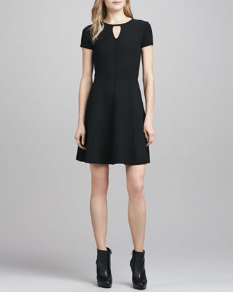 Diamond-Texture Stretch Dress
