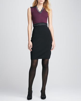Avalon Two-Tone Knit Dress