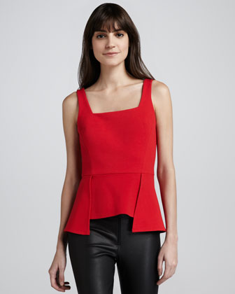 Ponte Modified-Peplum Top