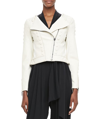 Cadi Cropped Leather Jacket