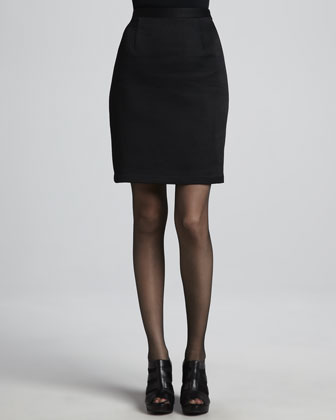 Bon Soir Puckered Blazer & Silhouette Puckered Pencil Skirt