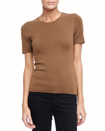 Super Cashmere Tee, Saddle