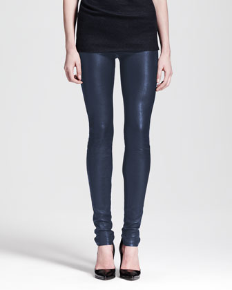 Leather Leggings, Midnight