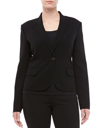 One-Button Cropped Jacket