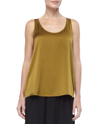 Charmeuse V-Neck Tank