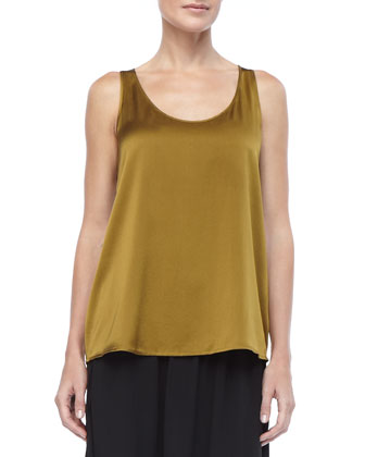 Charmeuse V-Neck Tank, Women's
