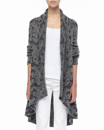 High-Low Ruffled Cardigan, Petite