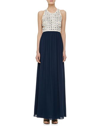 Gidget Crystal Stud Long Dress