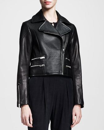 Hudson Mixed-Leather Jacket