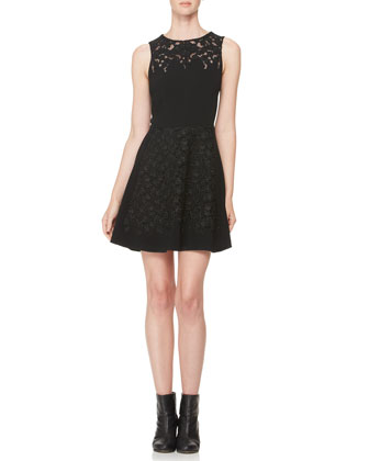 Aya Lace-Panel Dress