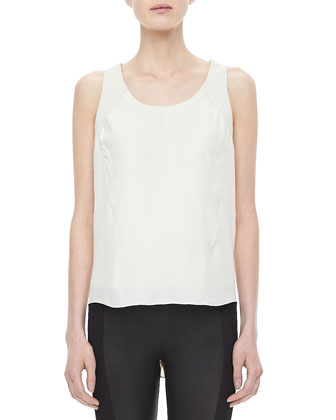 Jade Silk Shirttail Top