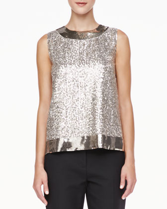 serene sleeveless sequined top