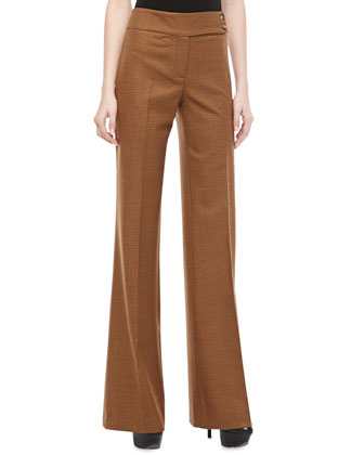 Jaryn Check Stretch-Wool Pants