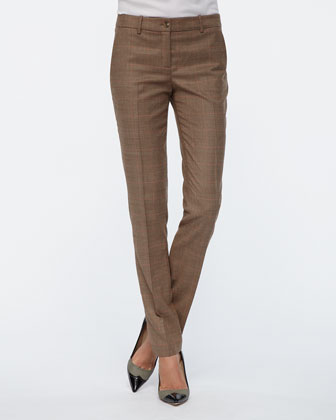 Manchester Plaid Skinny Pants