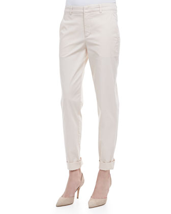 Relaxed Twill Boyfriend Trousers