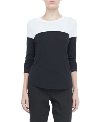 Long-Sleeve Colorblock Tee