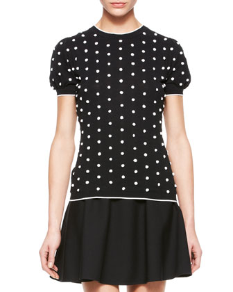 Polka Dot Knit Top