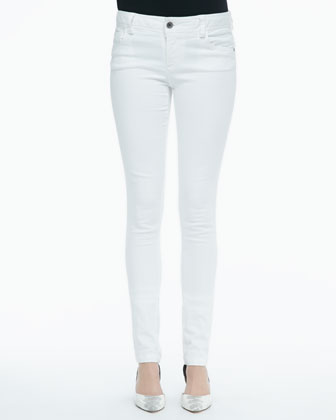 Brody Lace-Sleeve Sweatshirt & Five-Pocket Skinny Jeans