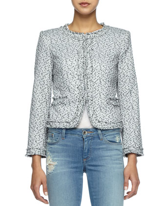 Kidman Fringe-Trim Tweed Jacket