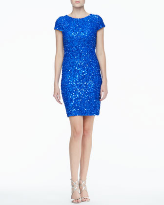 Taryn Sequined Fitted Dress