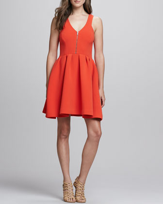 Royce Front-Zip Dress