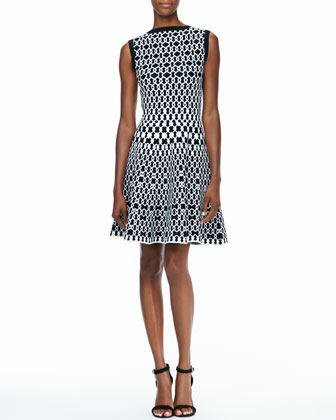 Jaisey Printed A-Line Dress