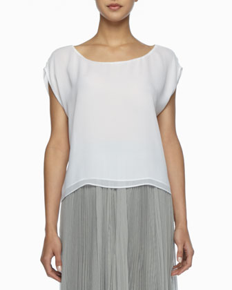 Layered Boxy Silk Tee