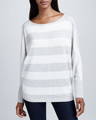 Horizontal Striped Cashmere Top
