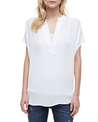 Mason Relaxed Rolled Jeans & Cap Sleeve Popover Top