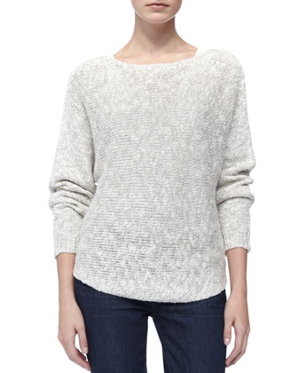 Round-Hem Knit Sweater